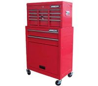Shogun Mechanic Tool Box on Trolley with 8 Drawers, Side Handles and 4 Castors - Red