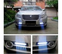 2PCS 8 LED DRL Daylight Head Lamp Super White 12V DC Car Daytime Running Light