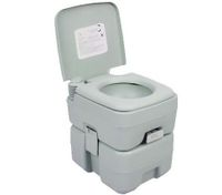 Portable Toilet - Camping Potty Restroom - 20L Square Light Gray