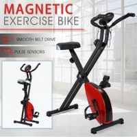 Folding Exercise Bike with Electric Monitor