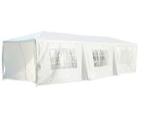 Gazebo Pergola Party & Function Marquee Tent with 8 Walls - 3m x 9m x 2.6m - White
