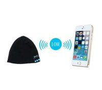 Smart Talking Keep Warm Music Beanie Hat w/ Built-in Wireless Bluetooth Stereo Earphones - Black