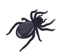 Mini Solar Black Spider Robot For Fun/Gift/Educational Tool