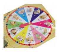 New Clock Model Children's Education Toy Wooden Intelligence Zodiac Puzzle