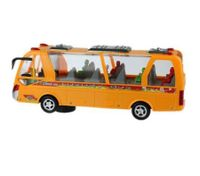 New classic electronic toys intelligence travel car yellow public bus