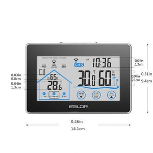 Weather Thermometer Hygrometer Station Indoor Outdoor With Forecast Wireless