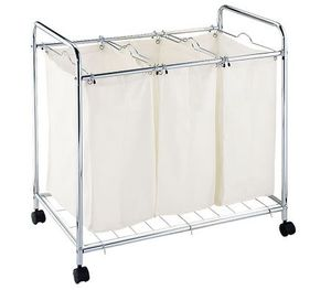 3 Compartment Laundry Basket Trolley