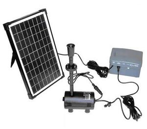 10w Solar Power Fountain Pond Pool Water Feature Pump Kit With Timer Led Lights