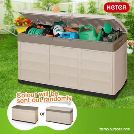 Keter Indoor/Outdoor Storage Box   Lockable   305L   Beige