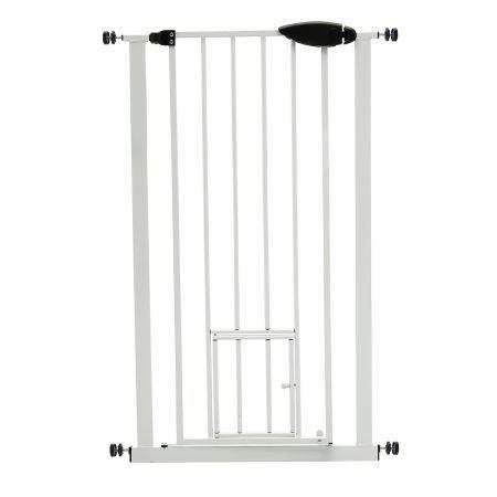 Pet Barrier Gate With Cat Door 65cm 72cm Bestdeals Co Nz
