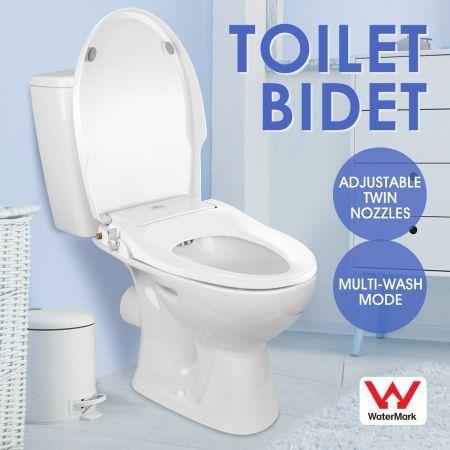 Admirable Non Electric Bidet Toilet Seat Cover Hygiene Washlet Dual Nozzle Sprayer Bathroom Shattaf Creativecarmelina Interior Chair Design Creativecarmelinacom