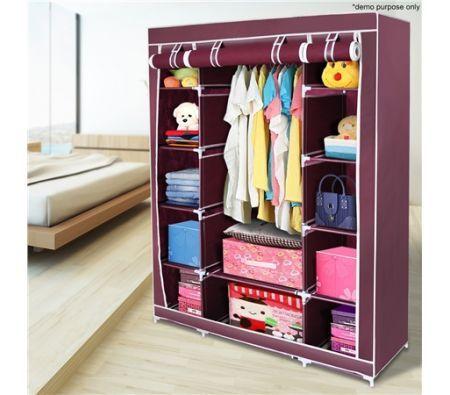 red 5 level non woven cloth storage wardrobe   bestdeals co nz