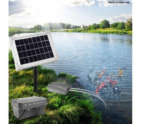 Solar Powered Air Pump for Pond Oxygenation
