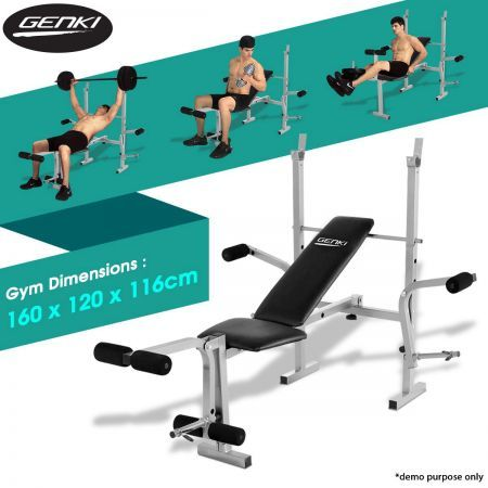 Genki home gym weight station bench press multi level