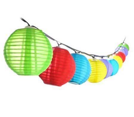 Multi-Colour Chinese Lantern Solar String Lights - BestDeals.co.nz